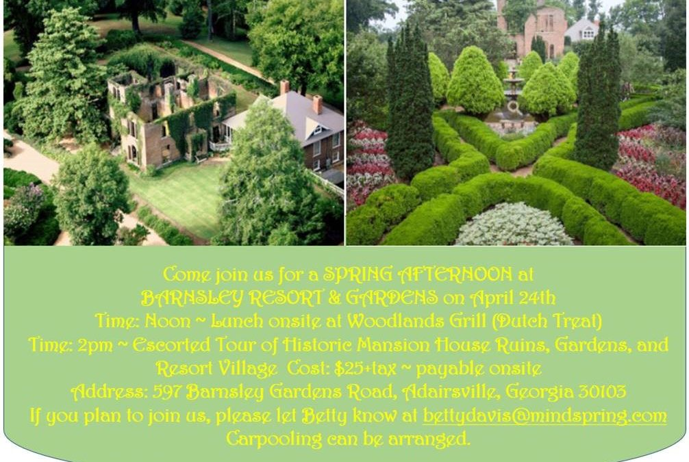 Springs Afternoon at Barnsley Resort – April 24th, 2021